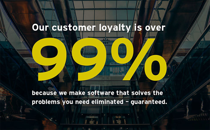 CYBRA has a customer retention rate of over 99%.