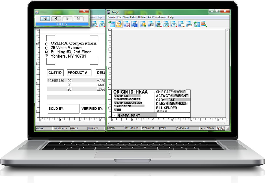 MarkMagic barcode software lets you automate the printing of forms, receipts, labels, and more.