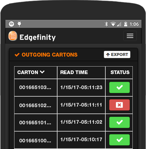 Apparel manufacturing and distribution becomes easier with Edgefinity IoT.