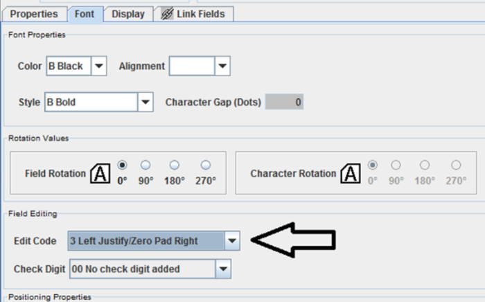 New edit codes (Left Justify/Zero Pad Right, Right Justify/Zero Pad Left, Left Justify/Blank Pad Left, and Trim Blanks).