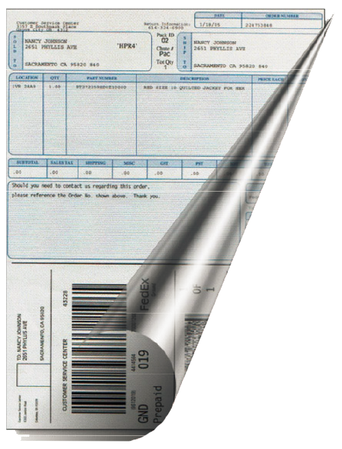 Use MarkMagic FormWeaver to add fine print or instructions on side two of labels or forms.