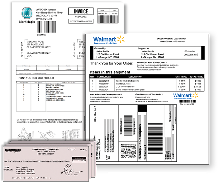 Dynamically generate and print your business documents, checks, labels and forms with PrintTransformer.