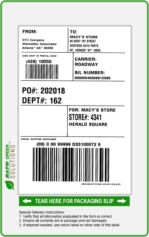 Print two sided thermal labels and packing slips.
