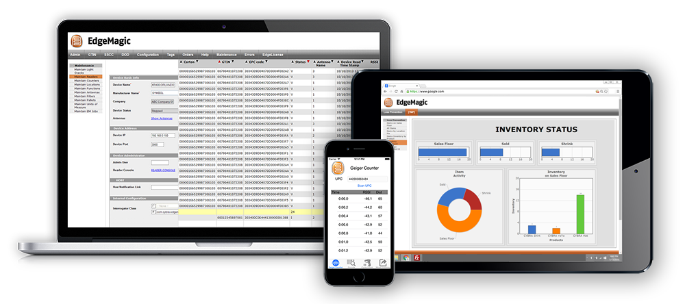EdgeMagic RFID software lets your control your tag integration, RFID data, and inventory management systems.