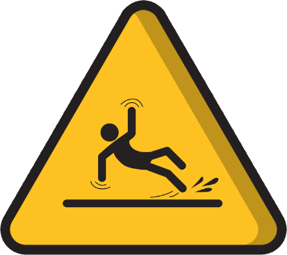 Risks facing lone workers include sudden, dangerous falls.