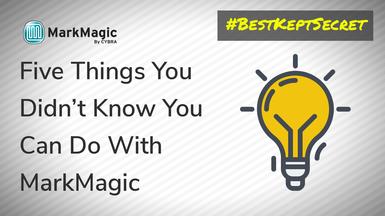 MarkMagic Webinar: 5 Things You Didn't Know You Can Do With MarkMagic (3/16/2016)