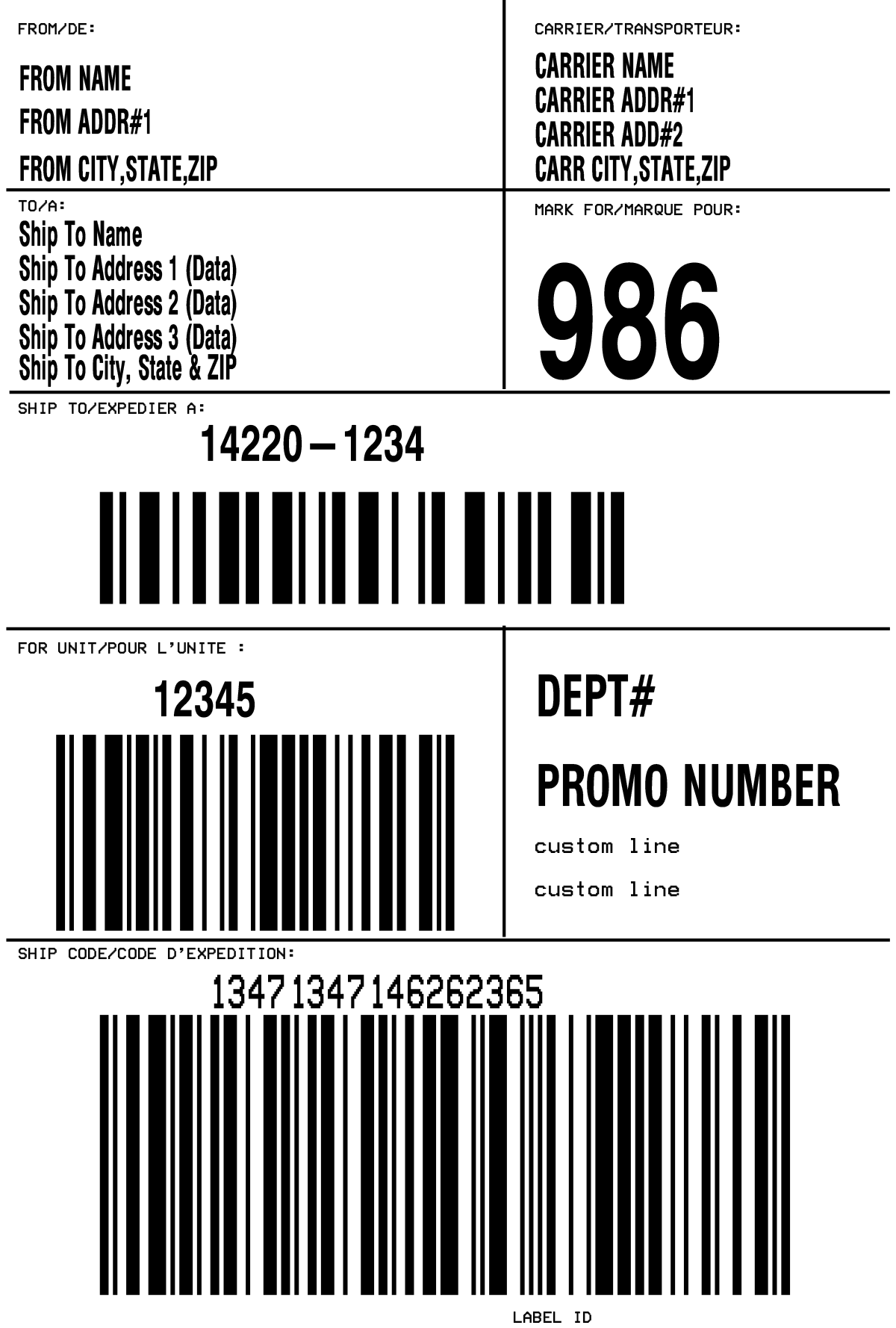 Amazon Shipping Label Template