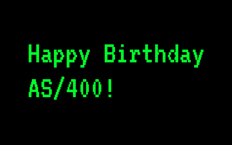 Happy Birthday AS/400!