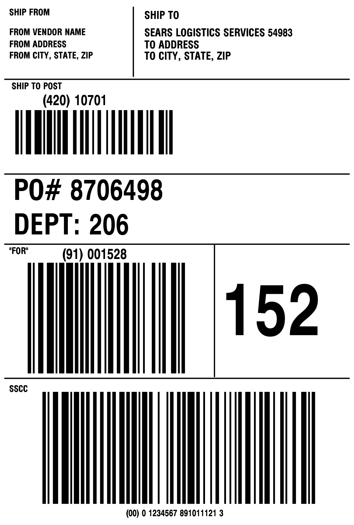 Print out UPS Ground shipping labels with MarkMagic barcode labeling and printing software.