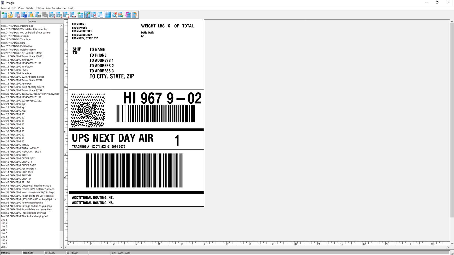 MarkMagic barcode labeling software makes it easy to design and print your shipping labels.