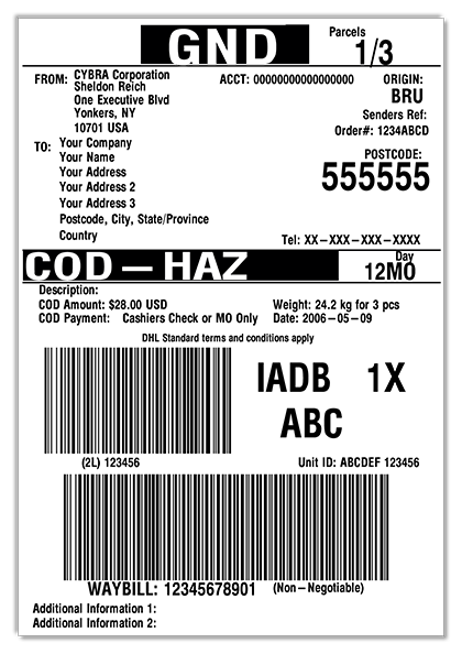 Develop DHL shipping labels with MarkMagic within your VAI S2k license.