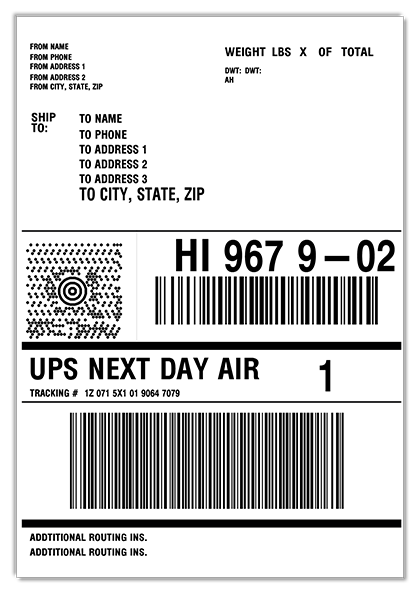Ups Next Day Shipping Label idea gallery