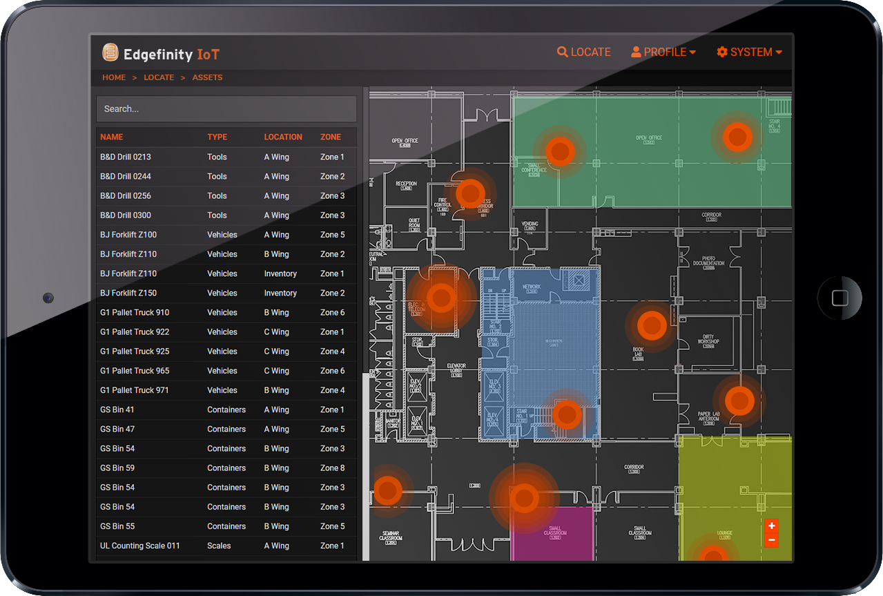 Edgefinity IoT - Real-time asset tracking software