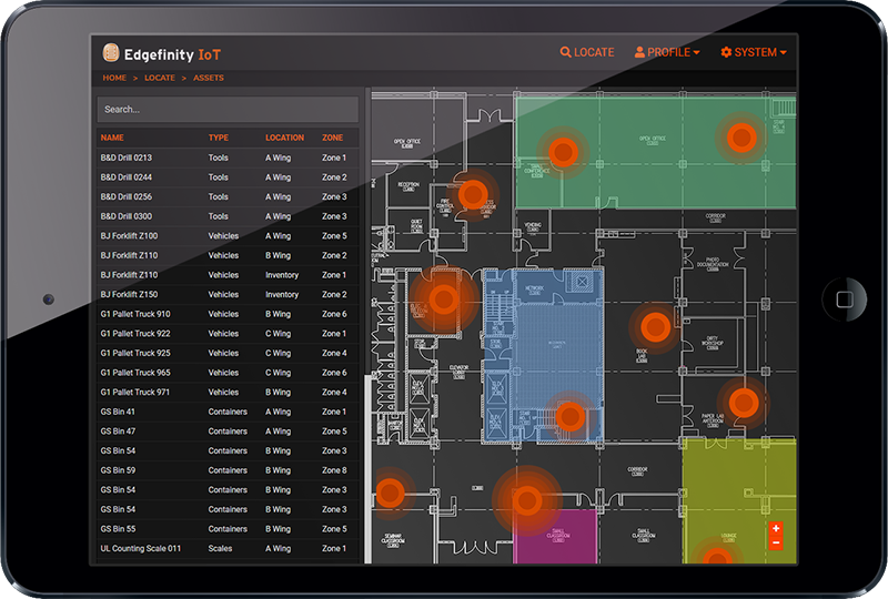 Edgefinity IoT real time tracking software