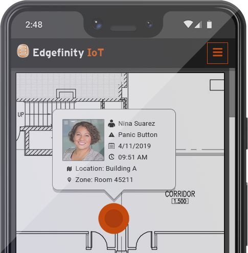 Edgefinity IoT is a lone worker tracking system on your mobile device.