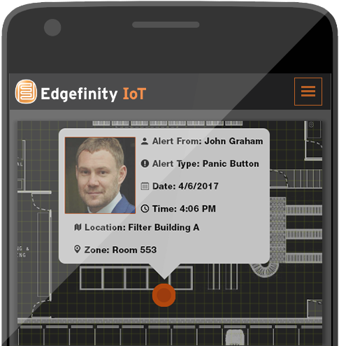 Keep your team safe with Edgefinity IoT's safety and security solutions.