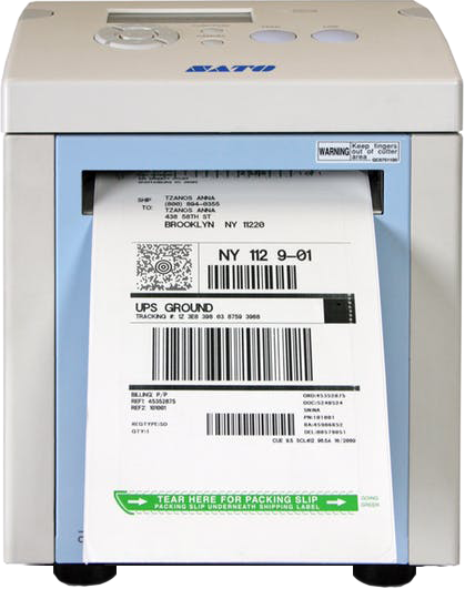 CYBRA's Duplex Label Printing solution works with SATO's GY412 Specialty Direct Thermal Printer