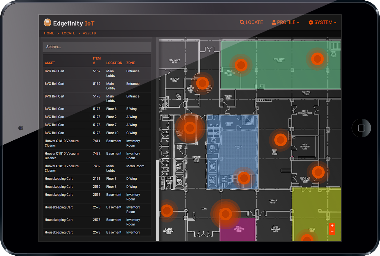 Find, locate, and track hotel assets and personnel in real-time.