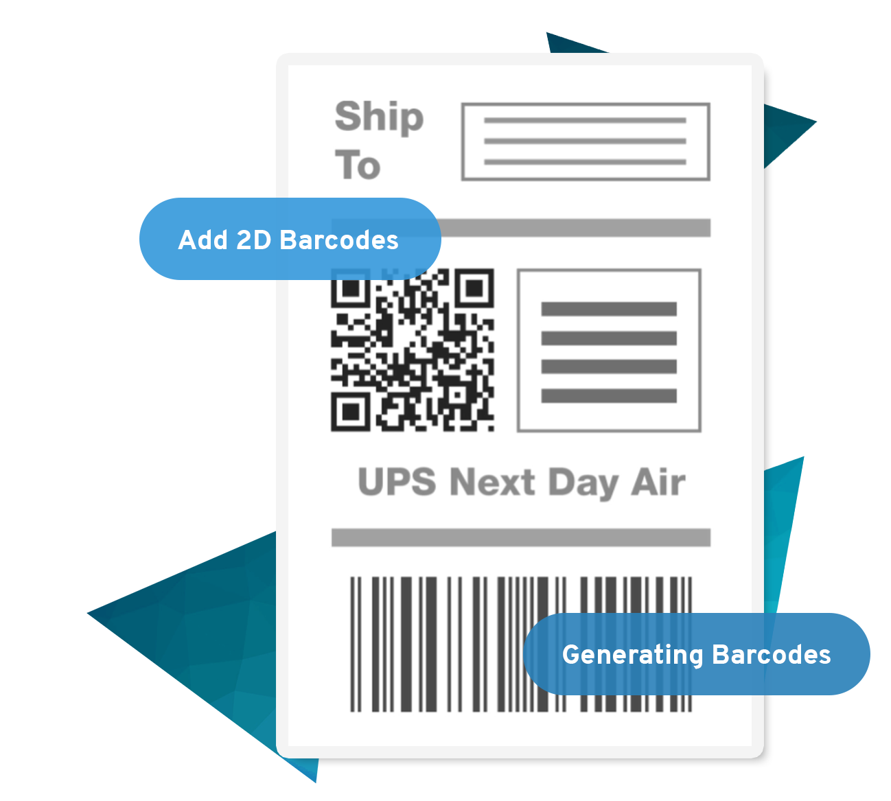 Adding barcodes and RFID tags is easy with JMagic