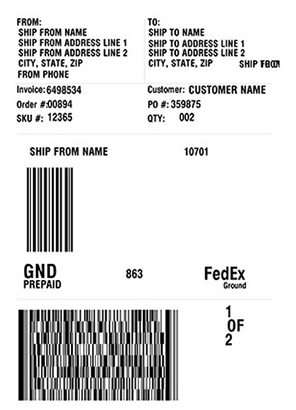 Design and print FedEx shipping labels with JMagic