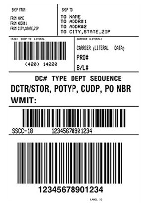 Design and print shipping labels with JMagic