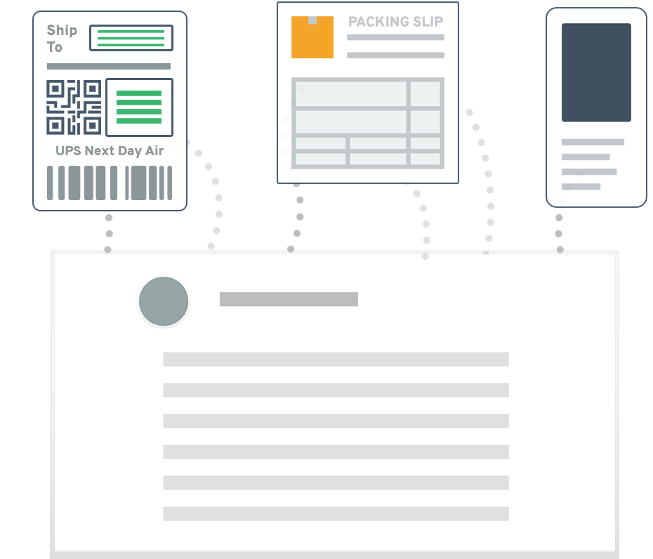 Combine packing slips, shipping labels, and other documents into one form.