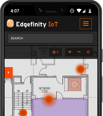 Monitor inventory with Edgefinity IoT