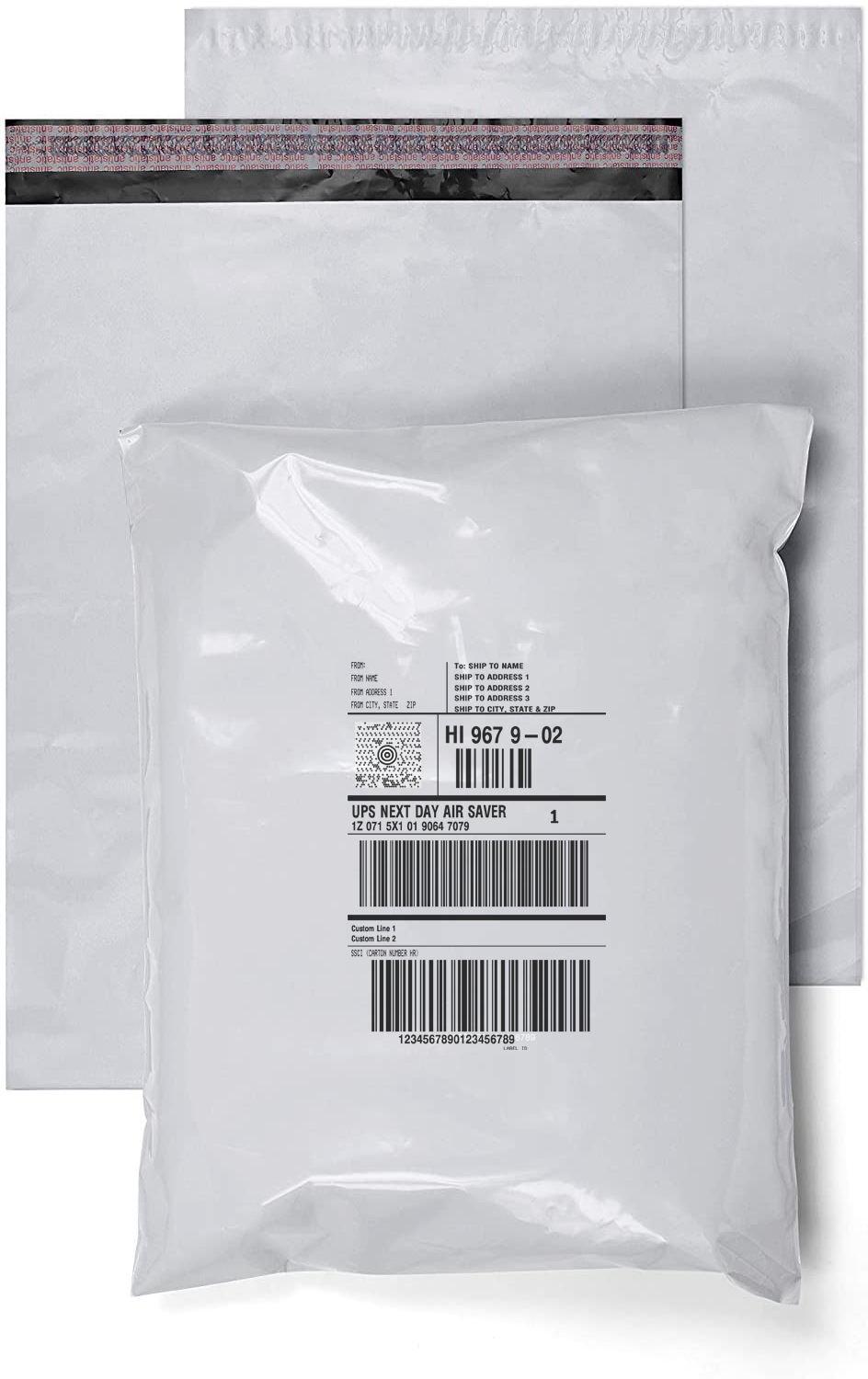 Print shipping labels onto shipping bags with Autobag printers